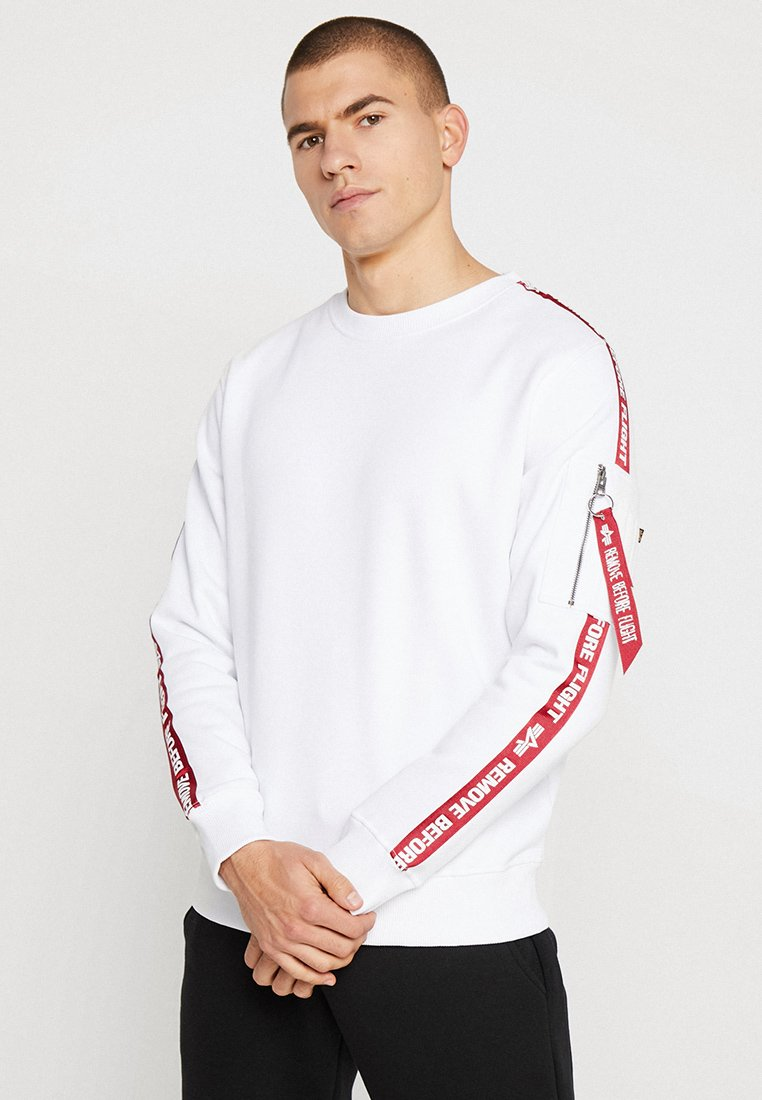 Alpha Industries - TAPEEXCLU - Felpa - white