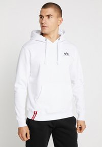 Alpha Industries - BASIC HOODY SMALL LOGO - Luvtröja - white - 0