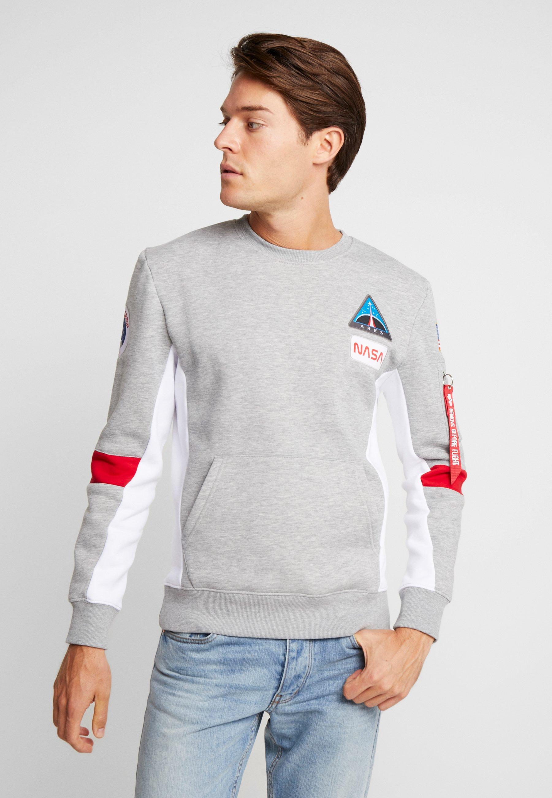Heather Industries Grey CampSweatshirt Alpha Space H29WEDIY