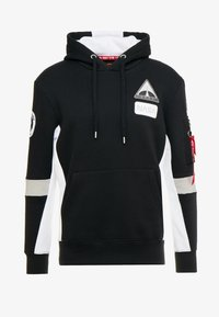 Alpha Industries - SPACE CAMP HOODY - Sweat à capuche - black - 4