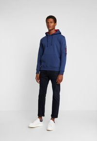 Alpha Industries - HOODY - Luvtröja - new navy - 1