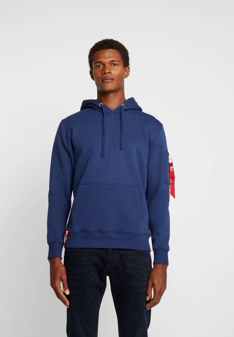 Alpha Industries - HOODY - Luvtröja - new navy