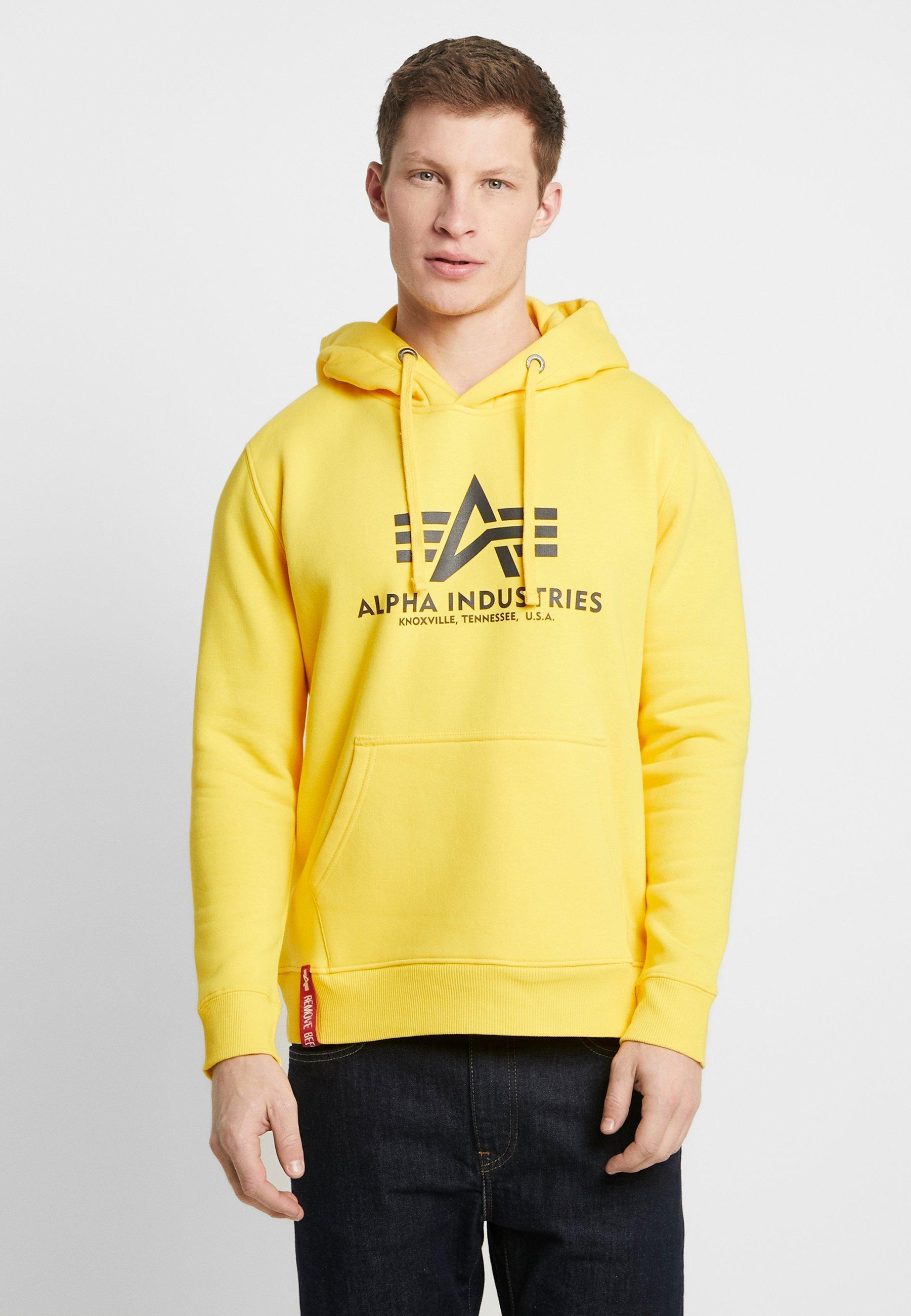 Alpha Industries Bluza z kapturem - empire yellow