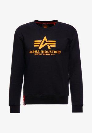 Sweater - black/neon orange