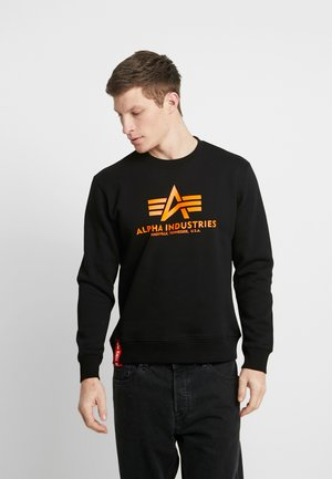 Sweatshirt - black/neon orange