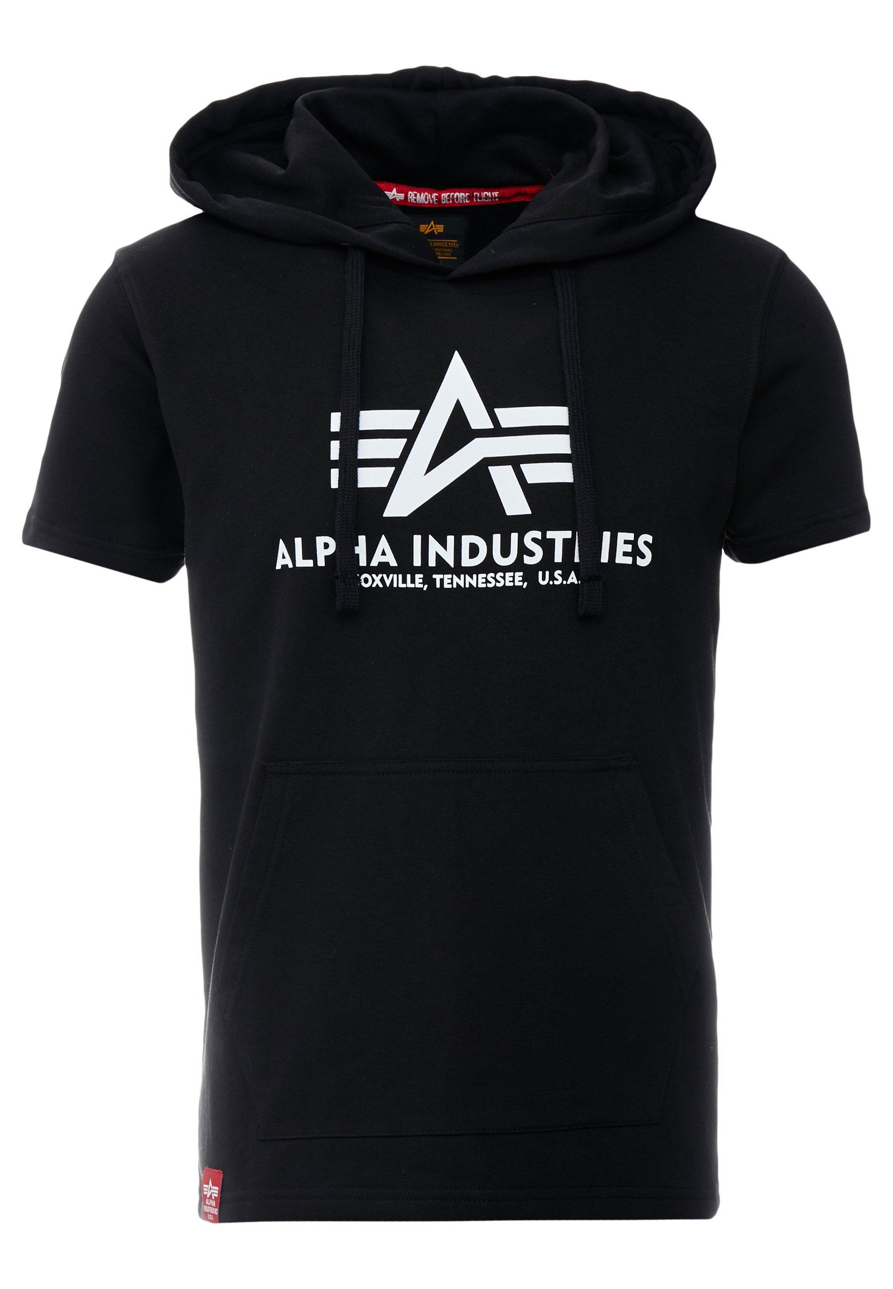 Alpha Industries Bluza z kapturem - black
