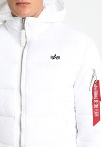 Alpha Industries - HOODED PUFFER - Giacca invernale - white - 5