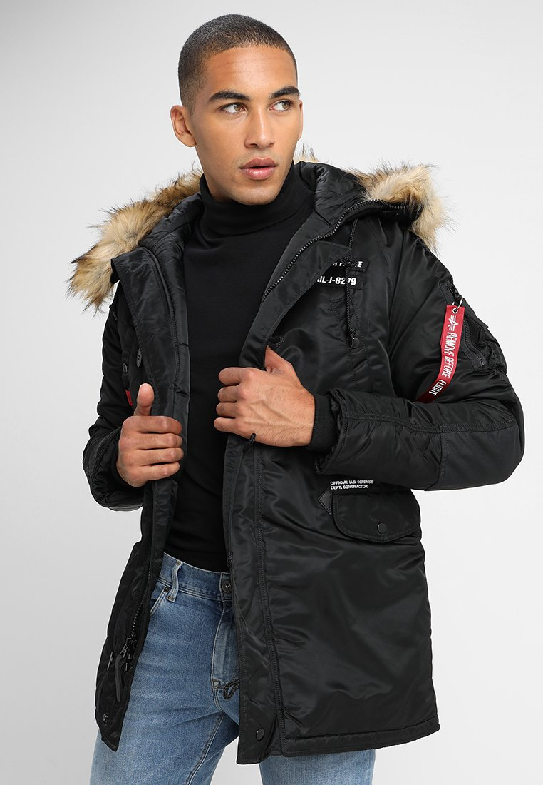 Alpha Industries - AIRBORNE - Cappotto invernale - black