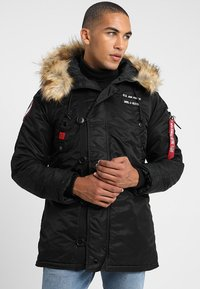 Alpha Industries - AIRBORNE - Cappotto invernale - black - 3