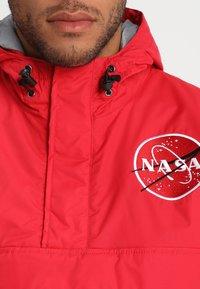 Alpha Industries - NASA ANORAKFUNKTION - Větrovka - speed red - 4