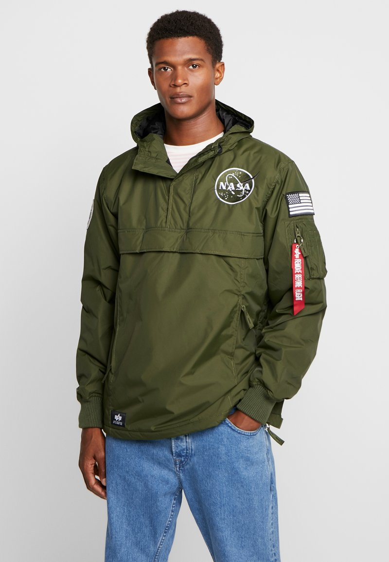Alpha Industries - NASA ANORAKFUNKTION - Windbreaker - dark green