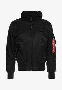 Alpha Industries - TEC BACK PRINT - Bombertakki - black - 6