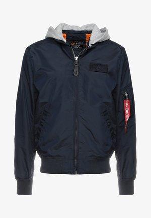 HOODED - Bomber Jacket - rep blue