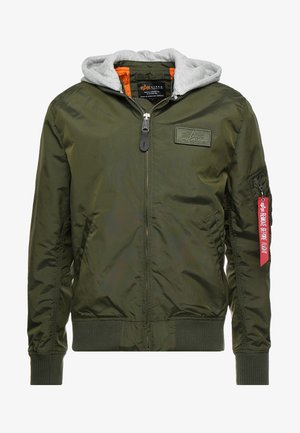 HOODED - Kurtka Bomber - dark green