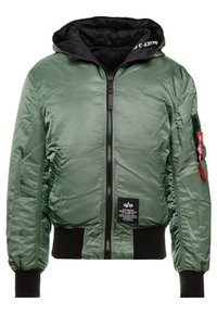 Alpha Industries - HOODED PUFFER - Jas - vintage green - 0