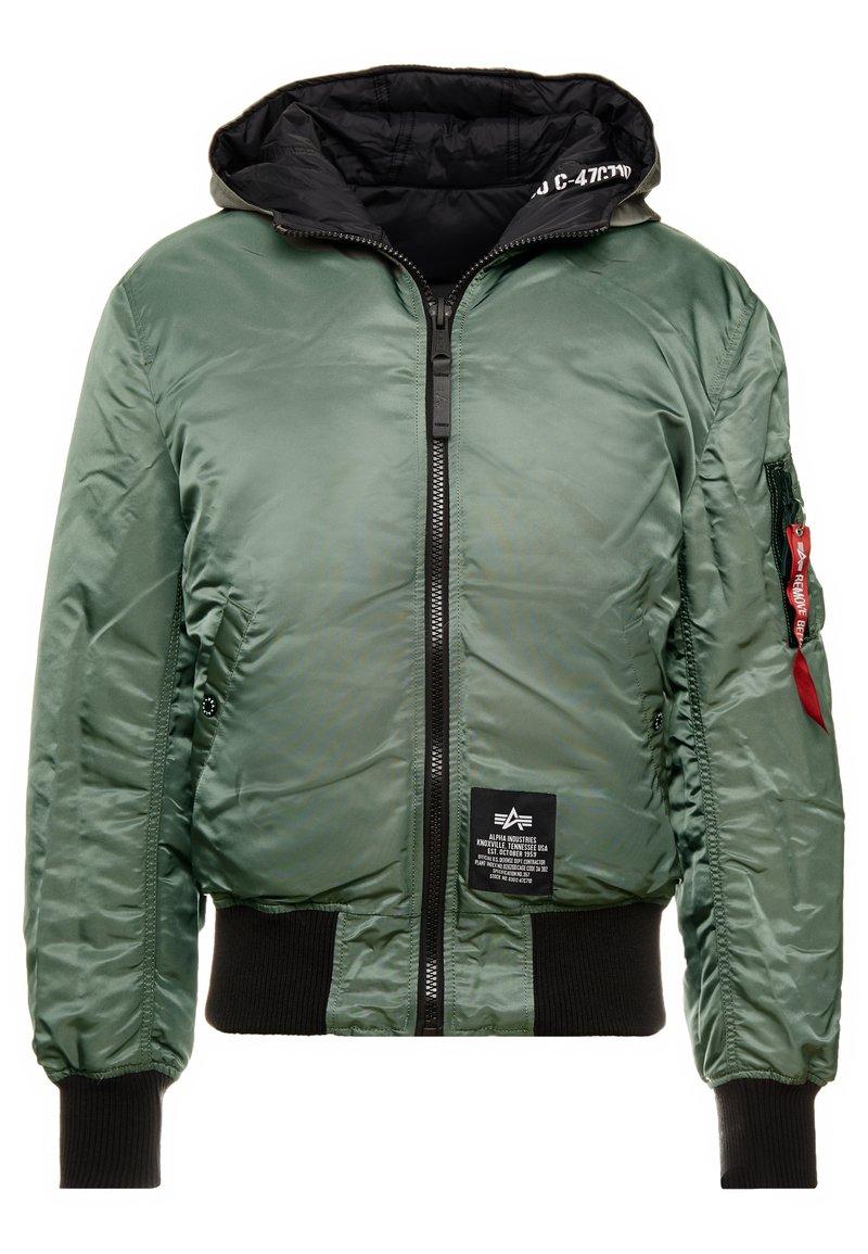 Alpha Industries - HOODED PUFFER - Lett jakke - vintage green
