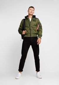 Alpha Industries - MA-1 ZIP HOOD - Bomberjacks - dark green - 1