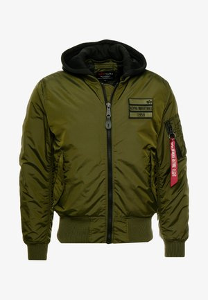MA-1 ZIP HOOD - Bomber bunda - dark green