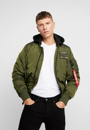 MA-1 ZIP HOOD - Giubbotto Bomber - dark green