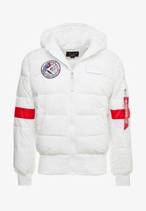 HOODED PUFFER NASA - Veste d'hiver - white