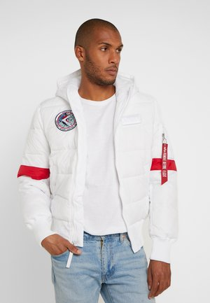 HOODED PUFFER NASA - Giacca invernale - white