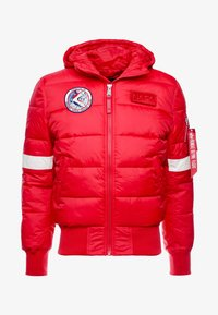 Alpha Industries - HOODED PUFFER NASA - Winterjas - speed red - 3