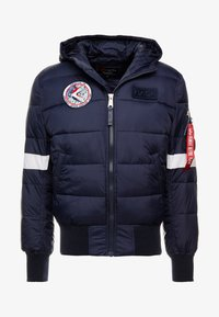 Alpha Industries - HOODED PUFFER NASA - Giacca invernale - dark blue - 4