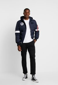 Alpha Industries - HOODED PUFFER NASA - Giacca invernale - dark blue - 1