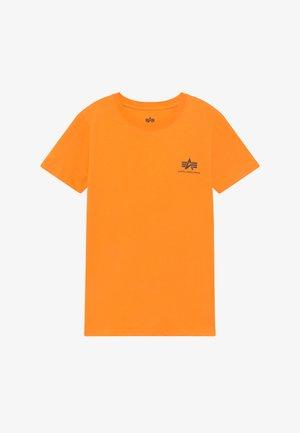 BASIC TEE SMALL LOGO KIDS/TEENS - Print T-shirt - alpha orange