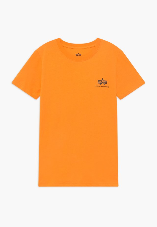 BASIC TEE SMALL LOGO KIDS/TEENS - Triko s potiskem - alpha orange