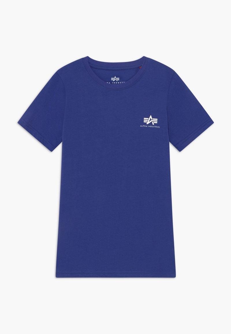 Alpha Industries - BASIC TEE SMALL LOGO KIDS/TEENS - Triko spotiskem - nautical blue