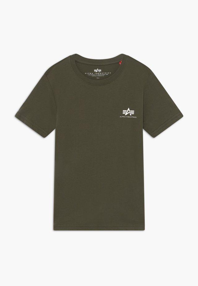 BASIC TEE SMALL LOGO KIDS/TEENS - T-shirt z nadrukiem - dark olive