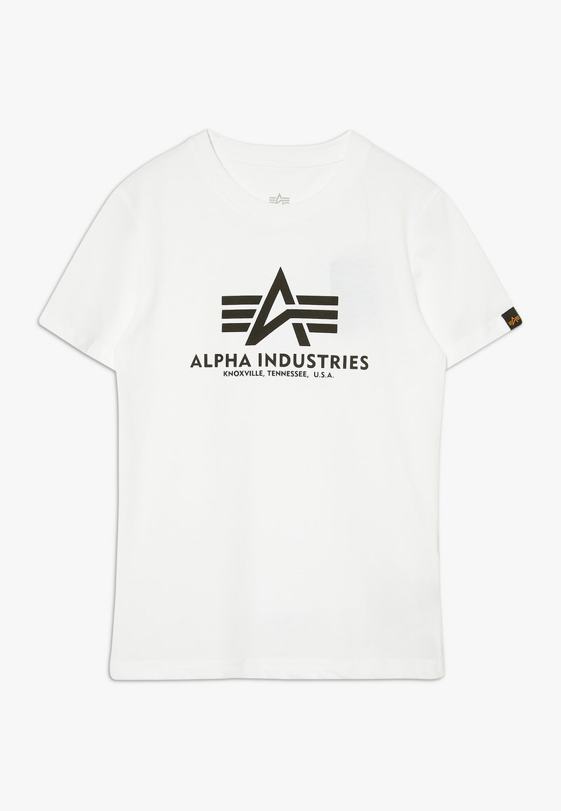 Alpha Industries - BASIC KIDS TEENS - T-shirt print - white