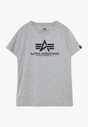 BASIC KIDS TEENS - Print T-shirt - grey heather