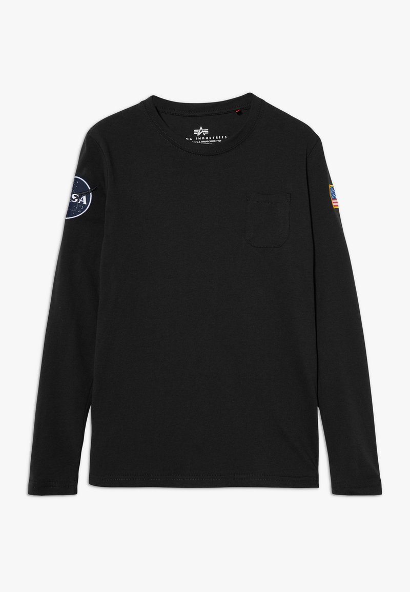 Alpha Industries - KIDS NASA  - Long sleeved top - black