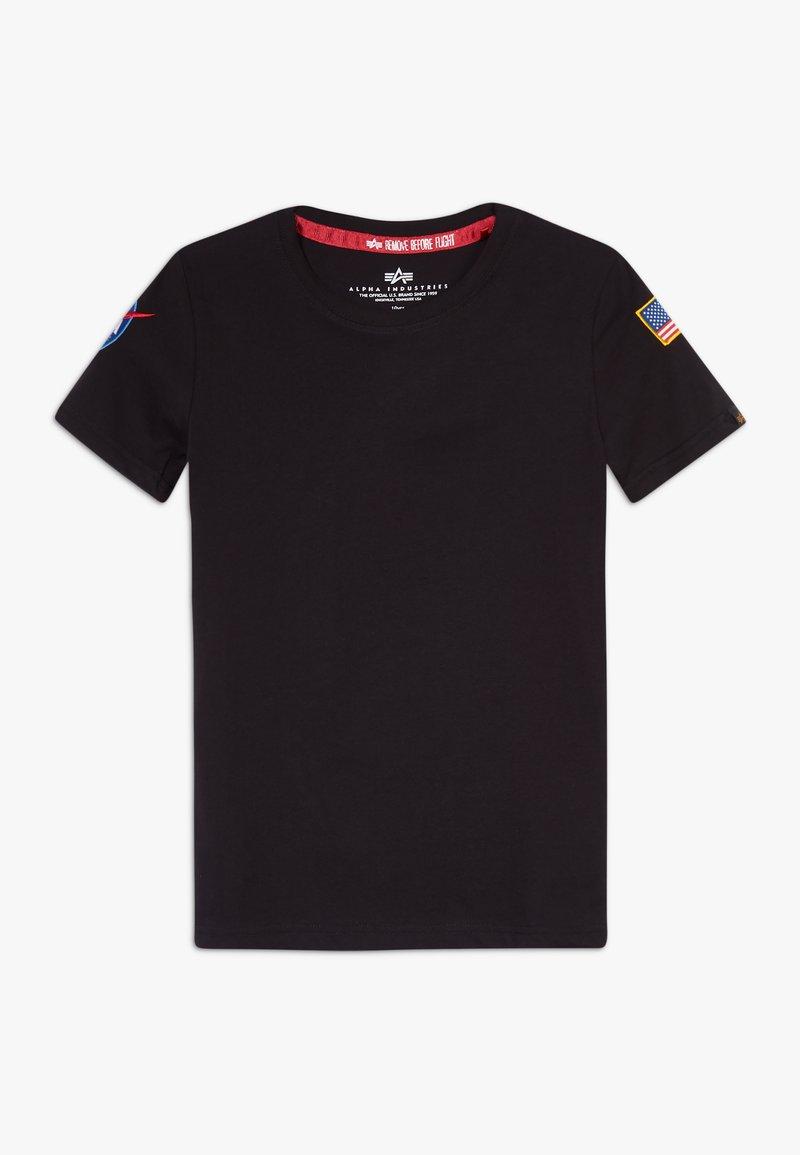 Alpha Industries - KIDS NASA  - Print T-shirt - black