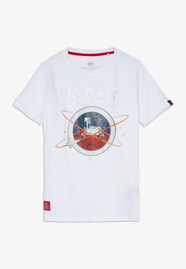 MISSION TO MARS KIDS TEENS - T-shirt med print - white