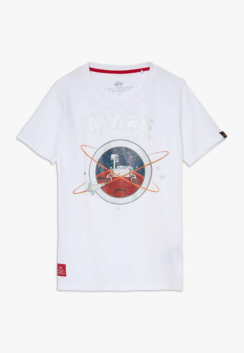Alpha Industries - MISSION TO MARS KIDS TEENS - Print T-shirt - white