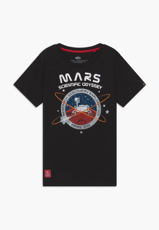 MISSION TO MARS KIDS TEENS - T-shirt z nadrukiem - black