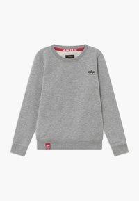 Alpha Industries - BASIC SMALL LOGO KIDS TEENS - Sweatshirts - grey heather - 0