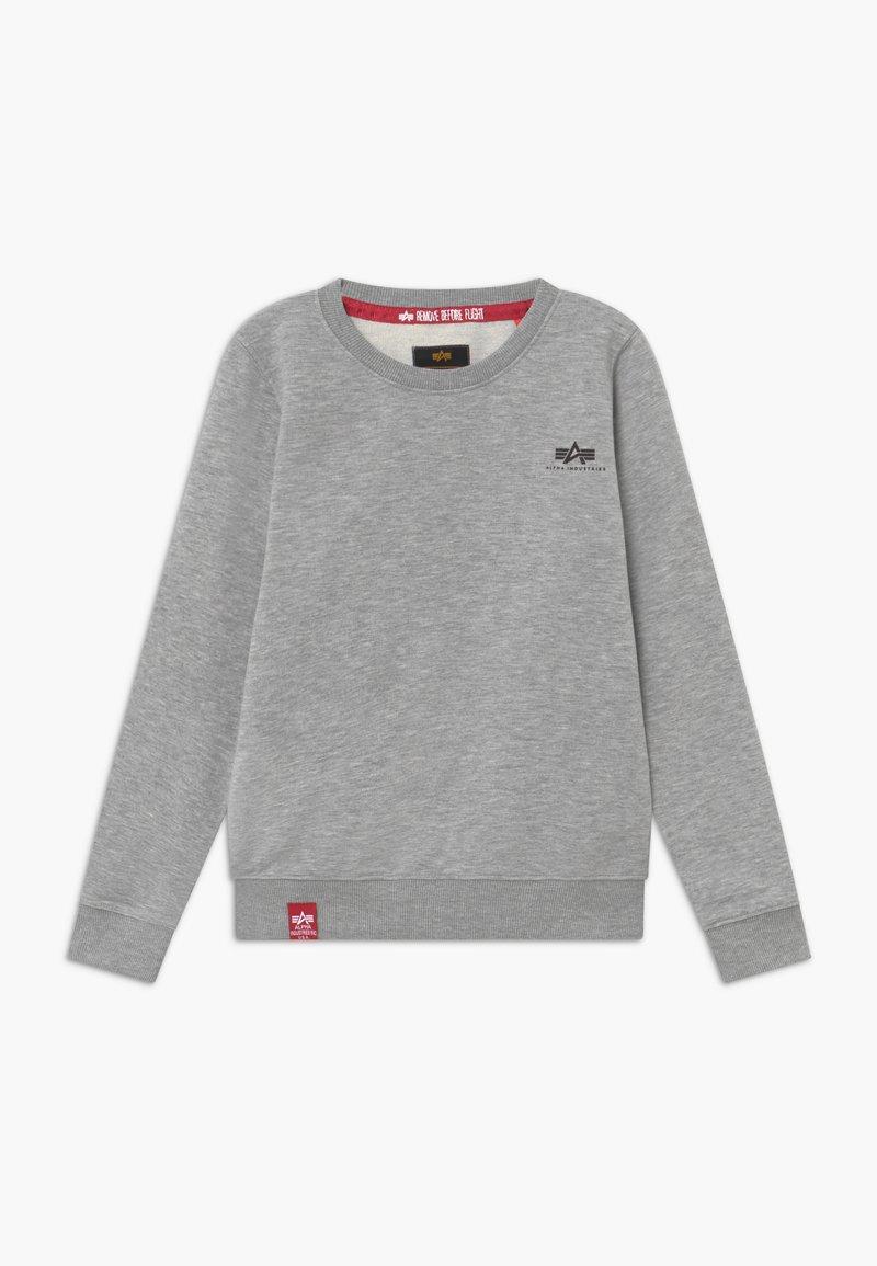 Alpha Industries - BASIC SMALL LOGO KIDS TEENS - Sweatshirts - grey heather