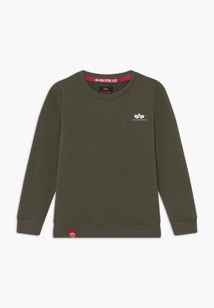 BASIC SMALL LOGO KIDS TEENS - Mikina - olive