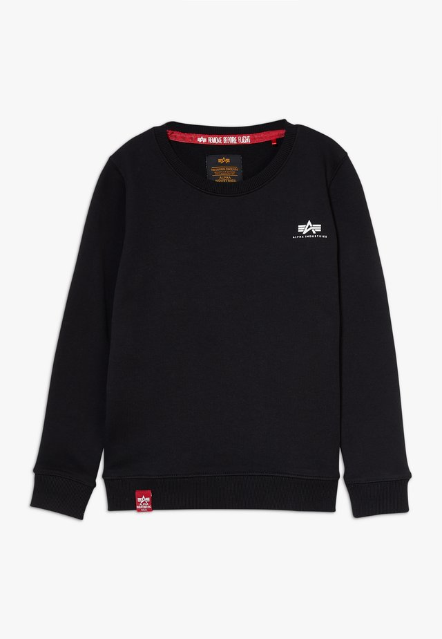 BASIC SMALL LOGO KIDS TEENS - Mikina - black