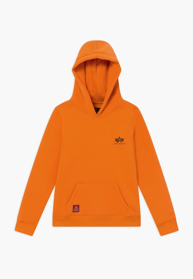 BASIC HOODY SMALL LOGO KIDS TEENS - Mikina s kapucí - alpha orange