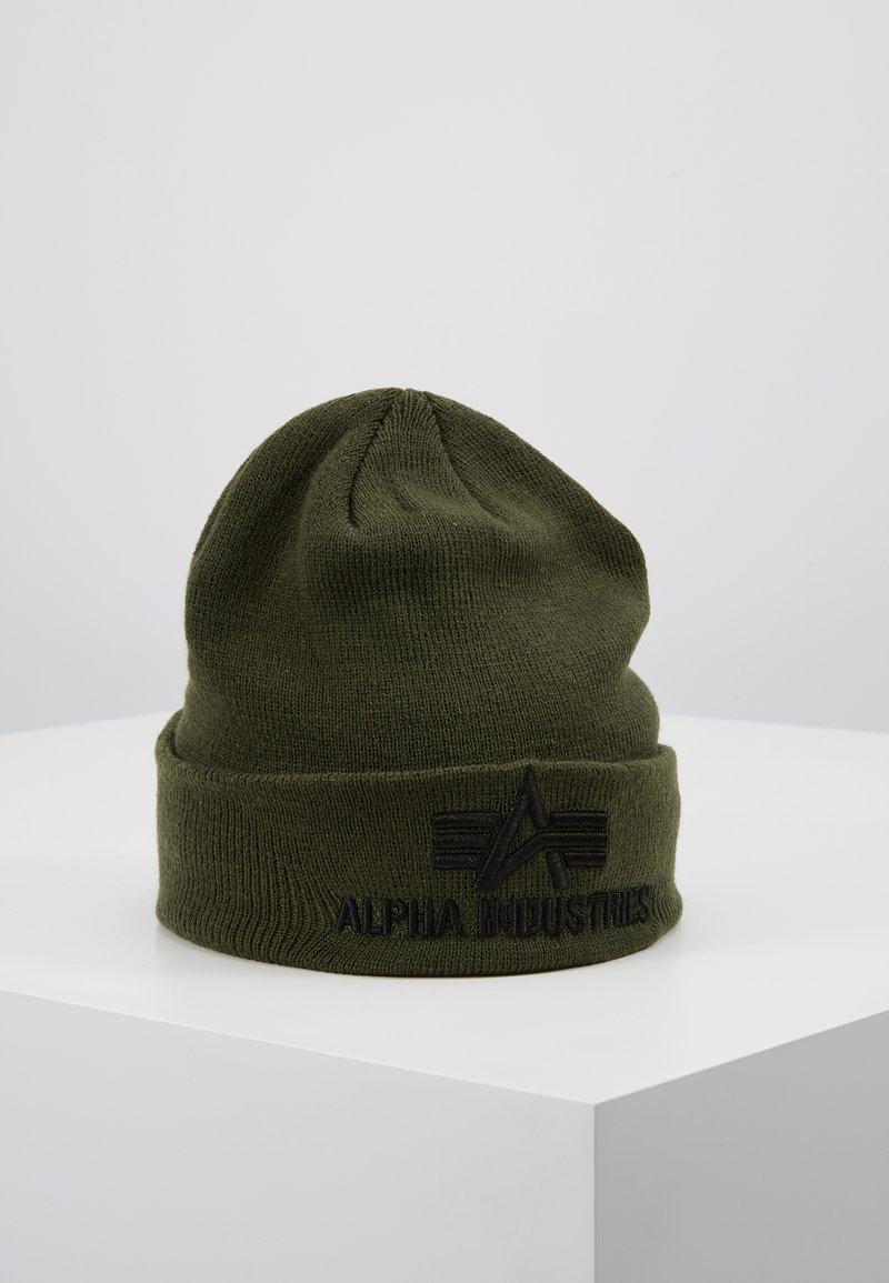Alpha Industries - 3D BEANIE - Beanie - dark green