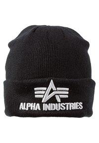 Alpha Industries - 3D BEANIE - Berretto - schwarz - 2