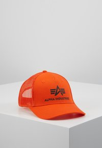 Alpha Industries - BASIC TRUCKER - Caps - flame orange - 0