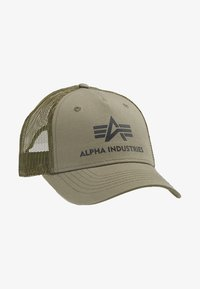 Alpha Industries - BASIC TRUCKER - Cap - dark green - 4