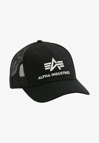 Alpha Industries - BASIC TRUCKER - Pet - black - 4