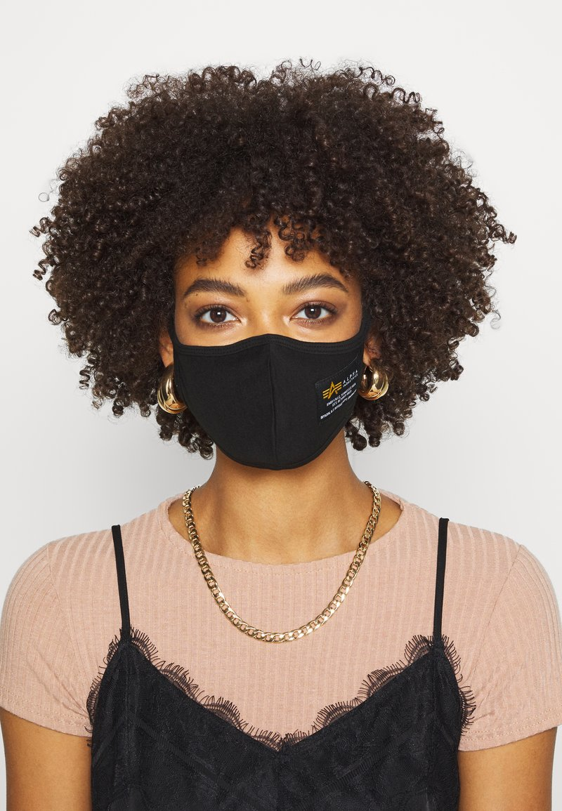 Alpha Industries - CREW FACE MASK - Community mask - black